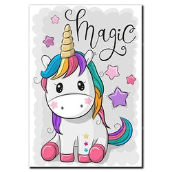 Diamanttavla (R) Unicorn Magic 30x40 - Leveranstid 1-3 Dagar