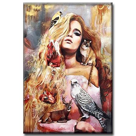 Diamanttavla  Beauty And Animals 40x50