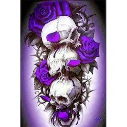 Diamanttavla Three Skulls 50x70
