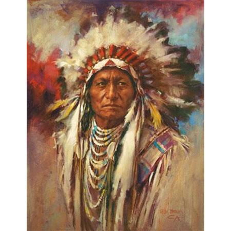 Diamanttavla Indian Painting 40x50