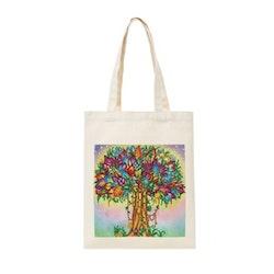 Diamanttavla Canvasväska Color Tree  35x30