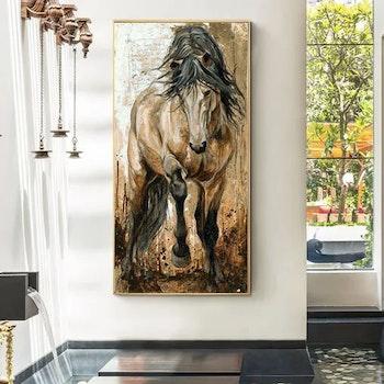 Diamanttavla Horse Vintage 50x100 - Leveranstid 1-3 Dagar