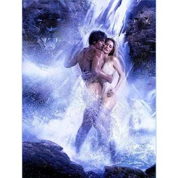 Diamanttavla Couple Waterfall 70x90