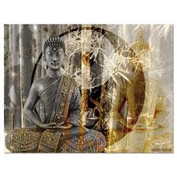 Diamanttavla Buddha Yin Yang 50x70
