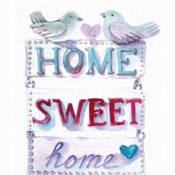 Diamanttavla Home Sweet Home Duvor 40x50