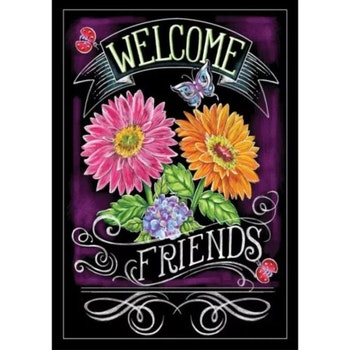 Diamanttavla Welcome Friends 40x50