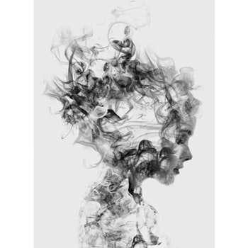 Diamanttavla Woman Smoke 40x50
