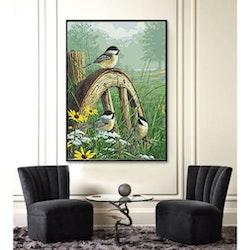 Diamanttavla Birds And Flowers 100x140 - Leveranstid 1-3 Dagar