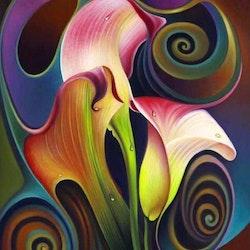 Diamanttavla Abstract Lily 40x50 - Leveransdag 1-3 Dagar