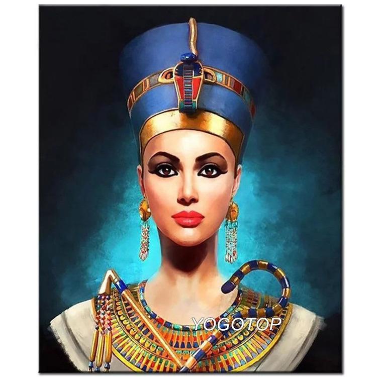Diamanttavla Egyptian Queen 50x70