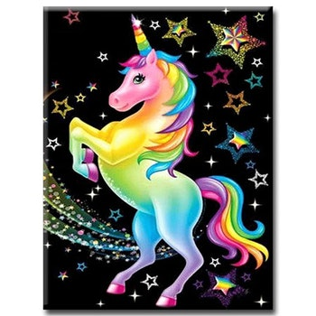 Diamanttavla (R) Colorful Unicorn 40x50 - Leveranstid 1-3 Dagar