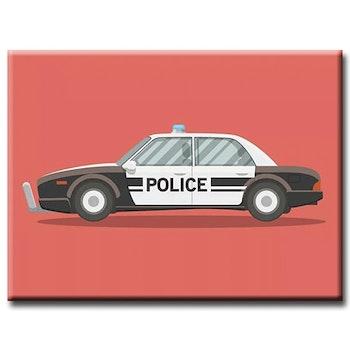 Diamanttavla Brittish Policecar 40x50