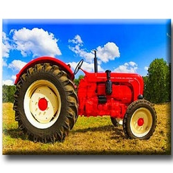 Diamanttavla Red Tractor 40x50