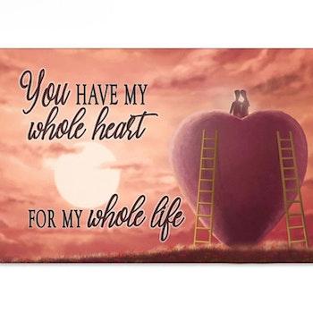 Diamanttavla My Whole Heart 50x70 - Leveranstid 1-3 Dagar