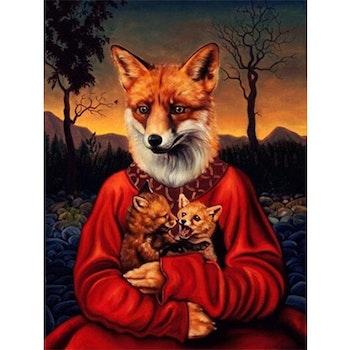 Diamanttavla Fox Art 40x50 - Leveranstid 1-3 Dagar