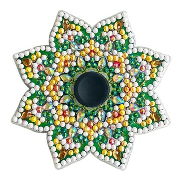Diamond Painting Fidget Toy Green Star 8x8 cm - Leveranstid 1-3 Dagar