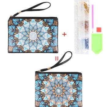 Diamanttavla Väska I Konstläder Mandala 15x20 cm
