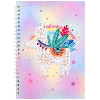 Diamond Painting Skrivbok Linjerad Cute Alpaca 60 sidor