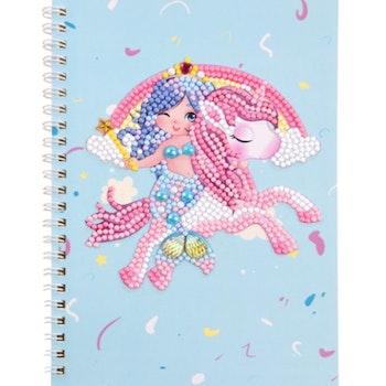 Diamond Painting Skrivbok Linjerad Cute Mermaid And Pony 60 sidor