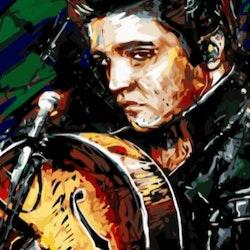 Paint By Numbers Elvis  50x70- Leveranstid 1-3 Dagar