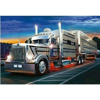 Diamanttavla Silver Truck 50x70 - Leveranstid 1-3 Dagar