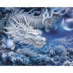 Diamanttavla Blue Dragon 50x70