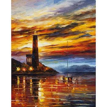 Diamanttavla Colorful Evening Sailing 50x70 - Leveranstid 1-3 Dagar