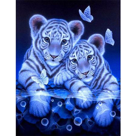 Diamanttavla Tigerbabys 40x50 - Leveranstid 1-3 Dagar