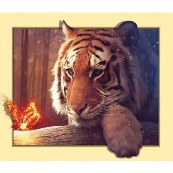 Diamanttavla Tiger Frame Butterfly 50x70 - Leveranstid 1-3 Dagar