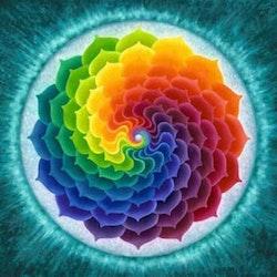 Diamanttavla Color Mandala 50x50 - Leveranstid 1-3 Dagar