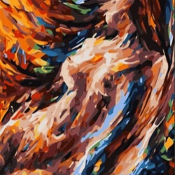 Paint By Numbers Color Sensual Woman 50x70- Leveranstid 1-3 Dagar
