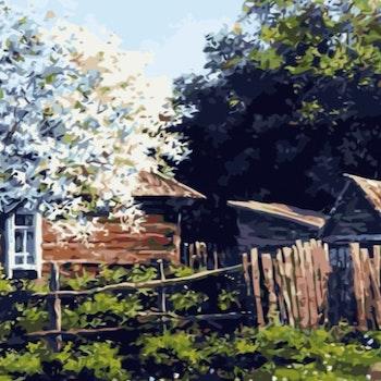 Paint By Numbers Torpet 50x70- Leveranstid 1-3 Dagar