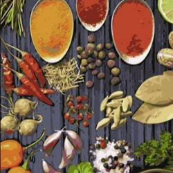 Paint By Numbers Spices 50x70- Leveranstid 1-3 Dagar