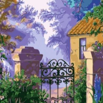 Paint By Numbers In To The Garden 50x70- Leveranstid 1-3 Dagar