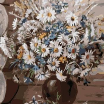Paint By Numbers Prästkragebukett 50x70- Leveranstid 1-3 Dagar