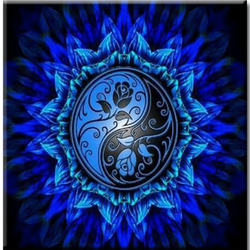Diamanttavla Mandala Yin Yan 40x40 - Öeveranstid 1-3 Dagar