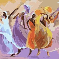 Paint By Numbers Dancing Women 50x70- Leveranstid 1-3 Dagar