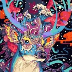 Paint By Numbers Fantacy Deer 50x70- Leveranstid 1-3 Dagar