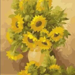 Paint By Numbers Sunflowers 50x70 -Leveranstid 1-3 Dagar