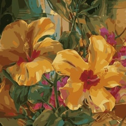 Paint By Numbers Exotic Flowers 50x70 -Leveranstid 1-3 Dagar