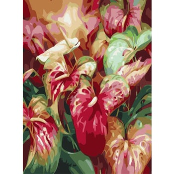 Paint By Numbers Flamingoblommor 50x70 -Leveranstid 1-3 Dagar