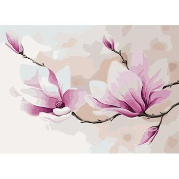 Paint By Numbers Magnolia 50x70 -Leveranstid 1-3 Dagar