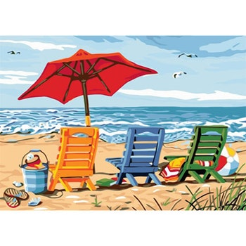 Paint By Numbers Beachlife 50x70 -Leveranstid 1-3 Dagar