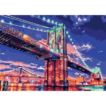 Paint By Numbers Color Bridge 50x70 -Leveranstid 1-3 Dagar
