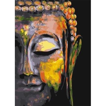 Paint By Numbers Buddha Silence 50x70- Leveranstid 1-3 Dagar