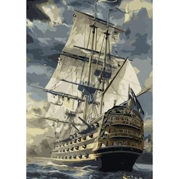 Paint By Numbers Sailor 50x70- Leveranstid 1-3 Dagar