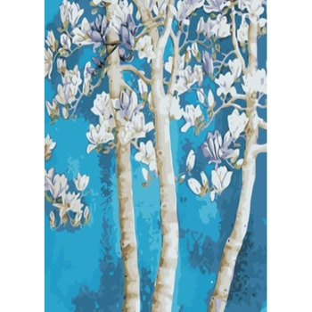 Paint By Numbers Flower Tree 50x70- Leveranstid 1-3 Dagar