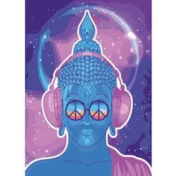 Paint By Numbers Urban Buddha 50x70- Leveranstid 1-3 Dagar