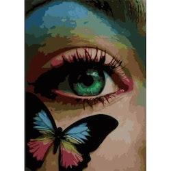 Paint By Numbers Butterfly Eye 50x70- Leveranstid 1-3 Dagar