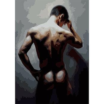Paint By Numbers Man  50x70- Leveranstid 1-3 Dagar